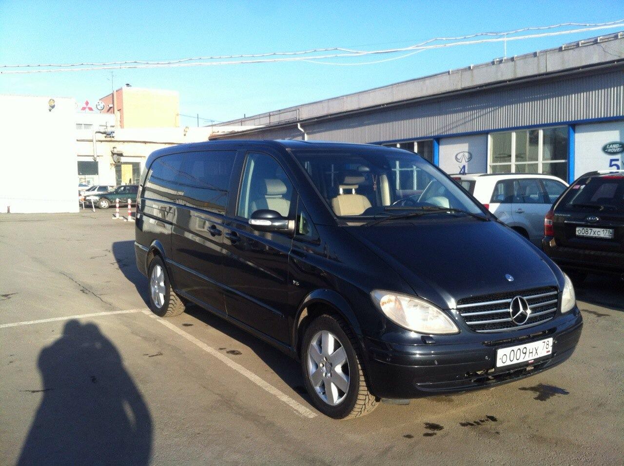 Mercedes-Benz Viano. Вместимость 6 человек.